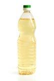Vegetable oil in plastic bottle Stock Photos