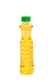 Vegetable oil in plastic bottle Royalty Free Stock Photo