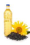 Vegetable oil in a plastic bottle Royalty Free Stock Photo