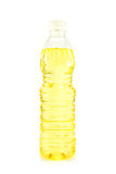 Vegetable oil in plastic bottle isolated Stock Photography