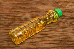 Vegetable oil in plastic bottle Royalty Free Stock Images