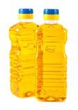 Vegetable oil in plastic bottles Royalty Free Stock Images