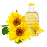 Vegetable oil from sunflower Stock Photos