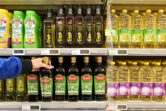 Vegetable Oils in a Store Royalty Free Stock Image