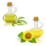 Vegetable and olive oil Royalty Free Stock Photo