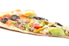 Vegetable Olive Pizza Slice Stock Photos