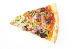 Vegetable Olive Pizza Slice Stock Images