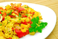 Vegetable omelet Stock Photos