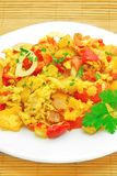 Vegetable omelet Royalty Free Stock Photography