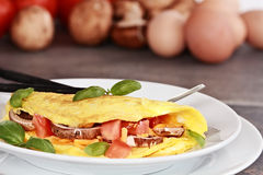 Vegetable Omelet Stock Images