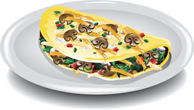 Vegetable omelet Royalty Free Stock Photos