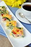 Vegetable omelet with spinach Royalty Free Stock Image
