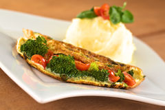 Vegetable Omelette Royalty Free Stock Images