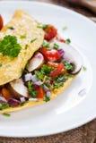 Vegetable Omelette Stock Photo