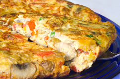 Vegetable omelette Royalty Free Stock Image