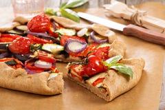 Vegetable open pie Royalty Free Stock Photo