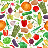 Vegetable organic food seamless background Stock Image