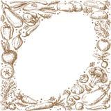 Vegetable Oval Frame royalty free illustration