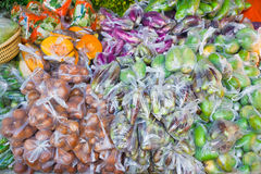 Vegetable packaging bag Royalty Free Stock Images