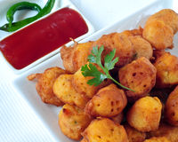 Vegetable Pakora. Indian vegetable Pakora.A fried snack prepared from Chickpea floor Stock Image