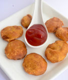 Vegetable Pakora. Indian vegetable Pakora.A fried snack prepared from Chickpea floor Royalty Free Stock Image