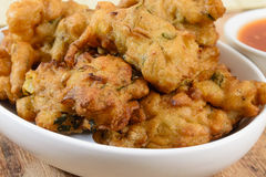 Vegetable Pakora or Onion Bhajis Stock Photography
