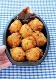 Vegetable Pakoras from the deli Stock Photos