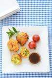 Vegetable Pakoras with tamarind chutney Stock Image