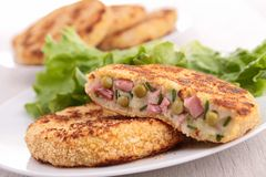 Vegetable pancake Stock Images