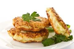 Vegetable pancakes Stock Image