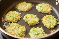 Vegetable pancakes Stock Photography