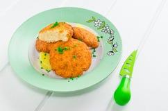 Vegetable pancakes from cauliflower Royalty Free Stock Image