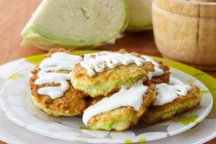 Vegetable Pancakes With Cabbage Stock Image