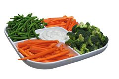 Vegetable Party Platter. Platter of fresh vegatables and dip Royalty Free Stock Photo