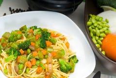 Vegetable pasta Royalty Free Stock Image
