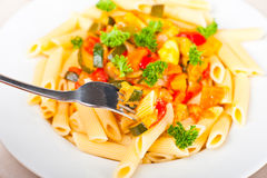 Vegetable pasta Royalty Free Stock Photo