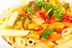 Vegetable pasta Stock Images