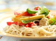 Vegetable Pasta Royalty Free Stock Photos