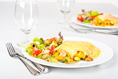 Vegetable pasta rolls Royalty Free Stock Image