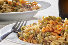 Vegetable pasta salad Royalty Free Stock Photo