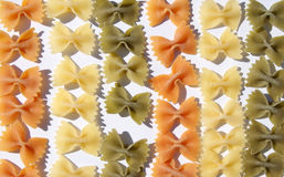 Vegetable pasta shaped loop Stock Photography