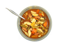 Vegetable and pasta soup in bowl Royalty Free Stock Photo