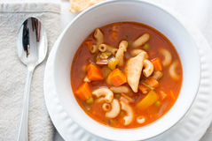 Vegetable and pasta soup Royalty Free Stock Photo
