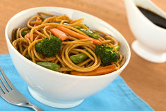Vegetable and Pasta Stir-Fry Royalty Free Stock Image