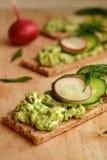 Vegetable pate сыра на хлебе диеты Стоковые Изображения RF