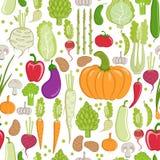 Vegetable pattern stock illustration
