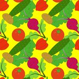 Vegetable pattern Stock Photography