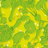 Vegetable pattern Royalty Free Stock Images