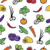 Vegetable Pattern Seamless  background. Stock Image