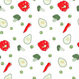 Vegetable pattern Stock Photo
